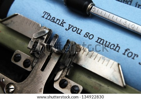 Thank you letter - stock photo