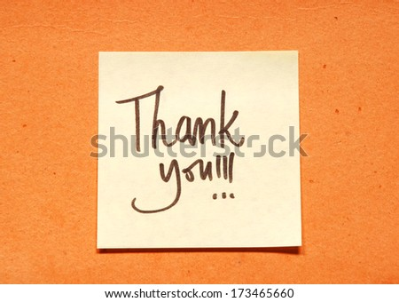 thank you note - stock photo