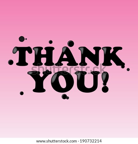 Thank You pink card, sticker, label and poster - jpg. - stock photo