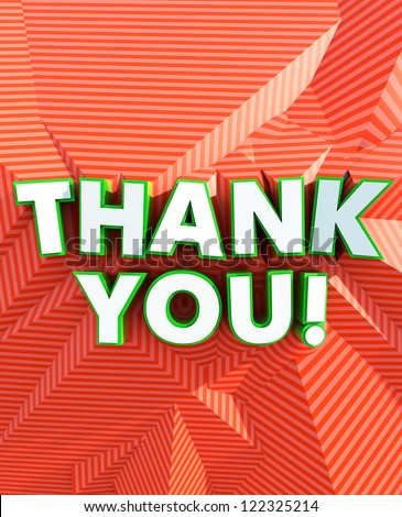 Thank You! poster - stock photo