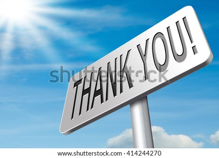 Thank you sign, many thanks for the support - stock photo