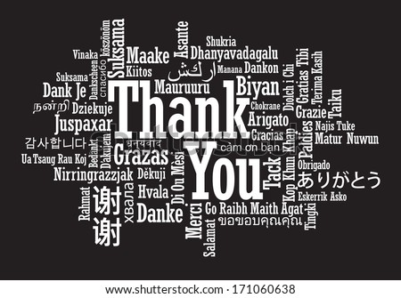 Thank You Word Cloud - stock photo