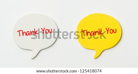 Thank you written on post it note - stock photo