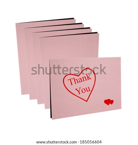 Thanks card isolated on white background - stock photo