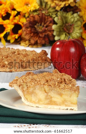 thanksgiving apple crumble - stock photo