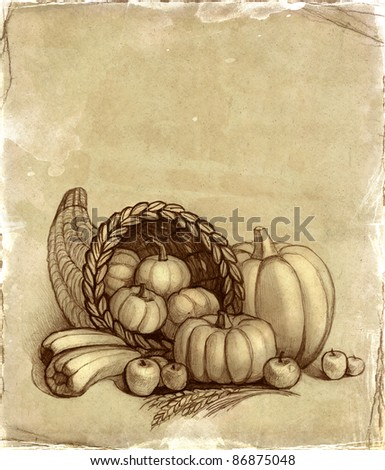 Thanksgiving background - stock photo