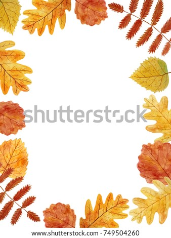 Thanksgiving Card Blank Template Autumn Leaves Stock Illustration - Thanksgiving card template