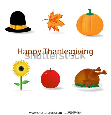 thanksgiving clip art images - stock photo