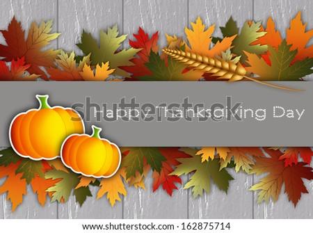 Thanksgiving day postcard - stock photo