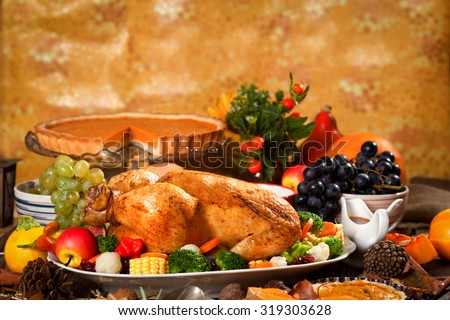 Thanksgiving Dinner - stock photo