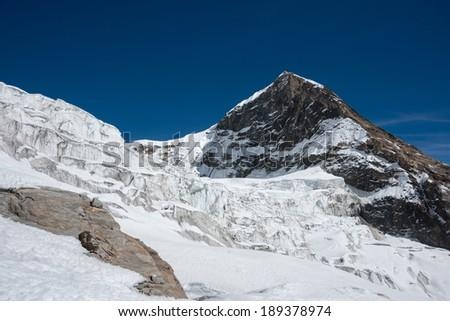 Tharpu Chuli or Tent peak, Annapurna region, Nepal - stock photo