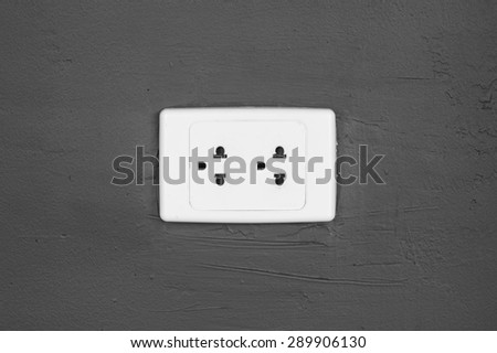 that plug socket on the wall - stock photo