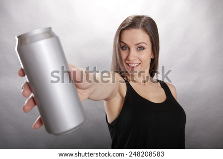That's a big soda that girl is holding