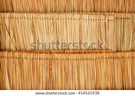 Thatched, Natural Materials Used For Roofing .