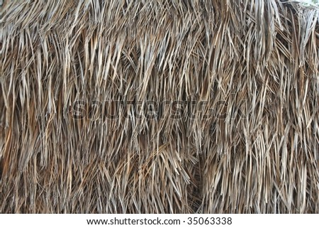 Thatched wall for background