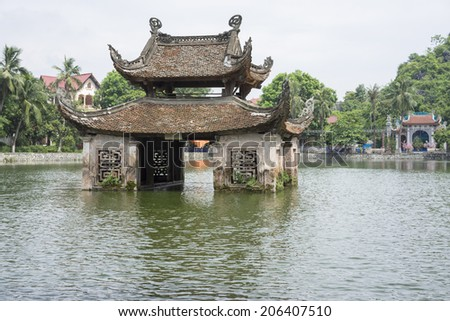 Thay pagoda in Hanoi, Vietnam - stock photo