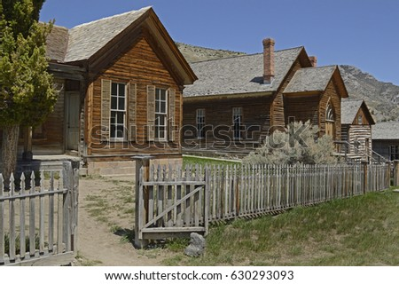 The abandoned Ghost town of Bannack , Montana.  12th May 2014. for editorial use only