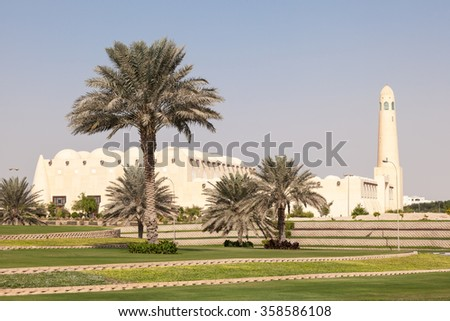 The Abdul Wahhab Grand Mosque in Doha, Qatar, Middle East