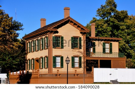 The Abraham Lincoln Home National Historic Site, residence of America's 16th President, in Springfield, Illinois - stock photo