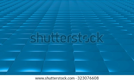 The Abstract background made of 3d cubes - stock photo