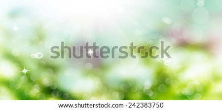 The abstract beautiful spring nature background - stock photo