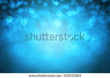 the  Abstract blur blue  bokeh lighting from glitter texture - stock photo