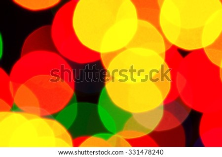The abstract colorful christmas lights as background - stock photo