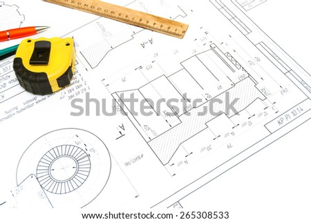 The abstract engineering drawing