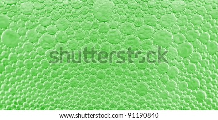 The abstract green background - bubbles .