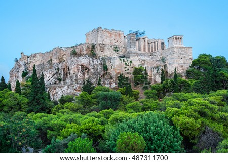 The Acropolis view from Areopagus