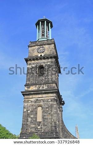 The Aegidienkirche Tower Ruins War Memorial in Hanover - stock photo
