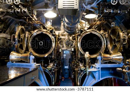 The aft torpedo room of the U.S.S. Bowfin in Pearl Harbor, Hawaii