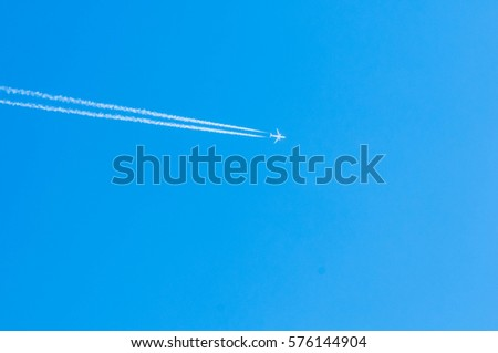 The aircraft in the sky, beautiful