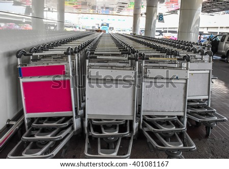 The airport trolley
