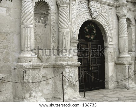 The Alamo, Entrance. San Antonio, Texas