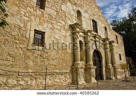 The Alamo, historic site of the battle for Texas independence against Mexican general Santa Anna and his army in 1720.