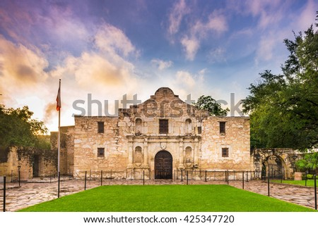 The Alamo in San Antonio, Texas, USA. - stock photo