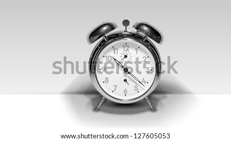 The Alarm clock. Vector image of clock which looks like a photo