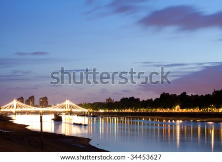The Albert Bridge at night, London