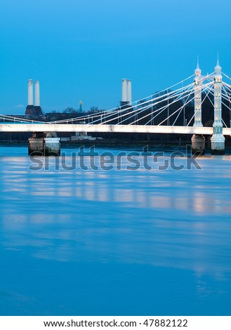 The Albert Bridge, London - stock photo
