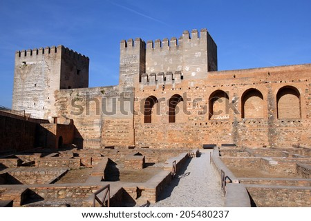 The Alcazaba, fortress- the oldest part of the Alhambra, Granada