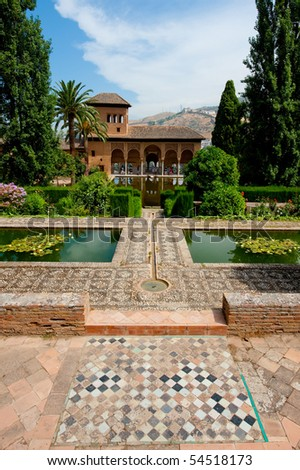 The Alhambra, most famous arab citadel in Granada, Spain