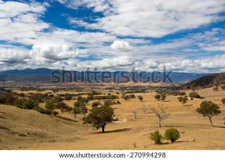 The Alpine Way road near Khancoban on a sunny autumn day in New South Wales, Australia - stock photo