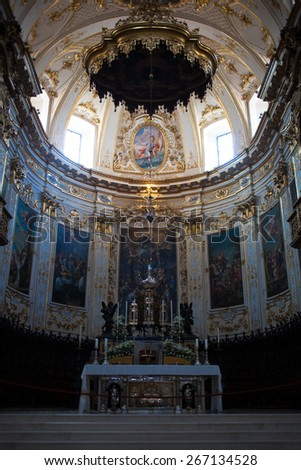 The altar in the Church - stock photo