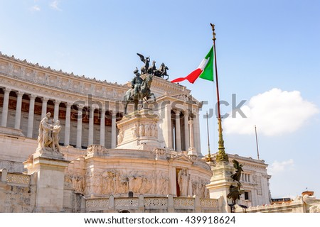 The Altare della Patria or Il Vittoriano , a monument built in honour of Victor Emmanuel, the first king of a unified Italy, Rome.