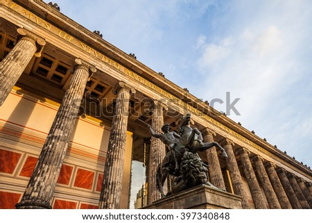 The Altes Museum (Old Museum) in Berlin, Germany - stock photo