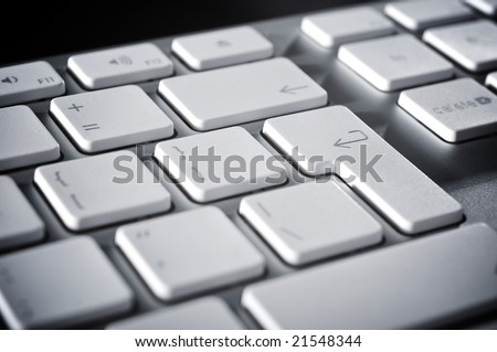 The aluminium  keyboard for the computer
