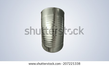 The aluminum cans on a background big size