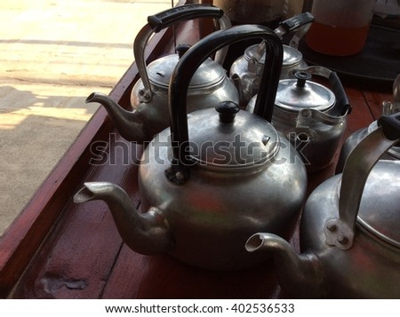 The aluminum pots in Thailand.