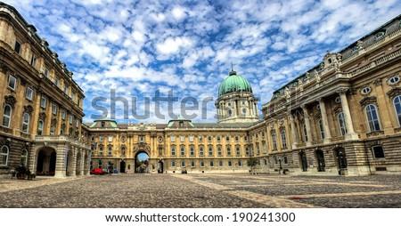 The Amazing Buda Castle in Budapest - stock photo